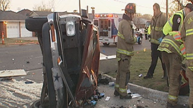 Man Critically Injured In Rollover Crash In NW OKC
