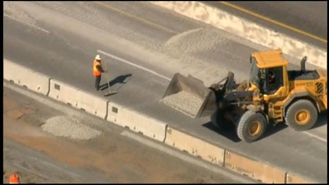 Northbound Lanes On I-35 Back Open Following Gravel Spill