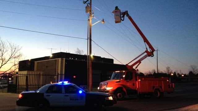 Downed Power Lines Cleared, Roadway Reopens In NE OKC