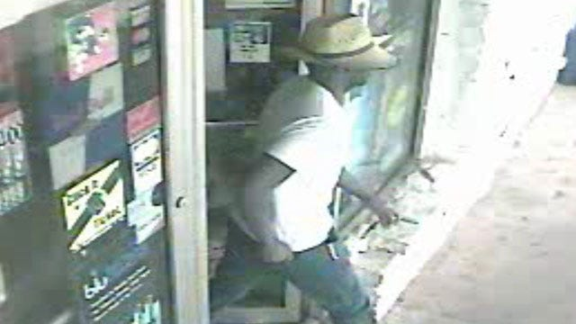 Surveillance Camera Records Robbery At Guthrie Store