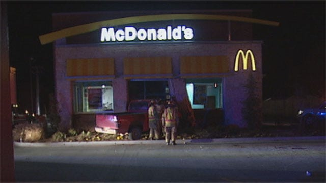 Juveniles Crash Stolen Truck Into Yukon McDonald's