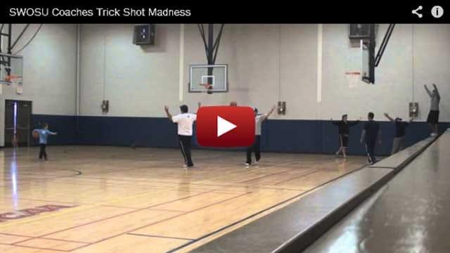 SWOSU Coaches Make Tricky Shots