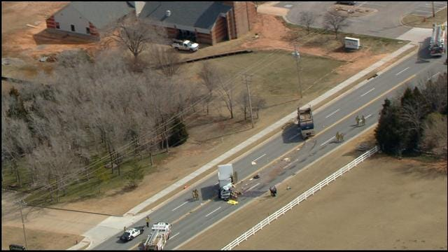 One Dead In Head-On Collision Involving Garbage Truck In NW OKC
