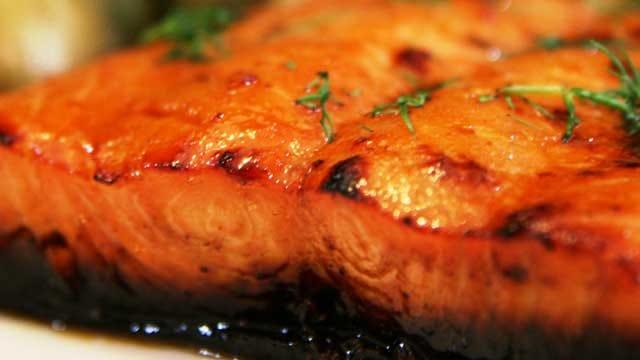 Salmon with Whisky Glaze