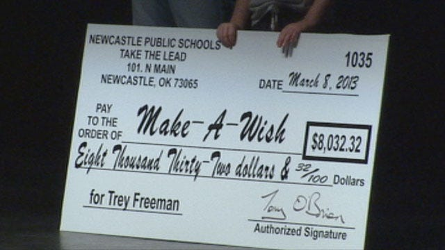 Families' Dreams Come True With Help From Newcastle HS Students, Make-A-Wish