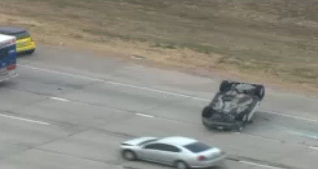 One Person Injured In Rollover Crash In SE OKC
