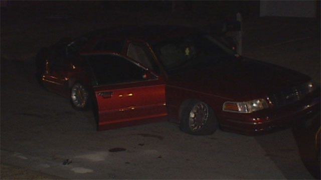 One Suspect Caught, Another On The Run After Car Chase In OKC