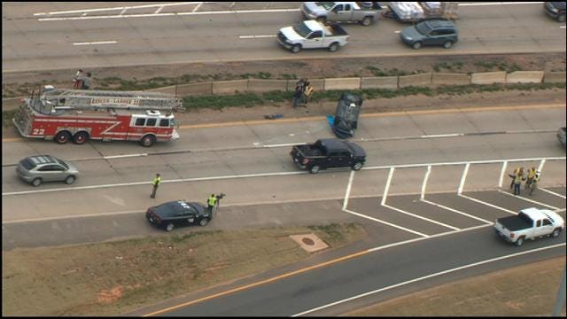 Police Car Involved In Accident On Broadway Ext. In North OKC