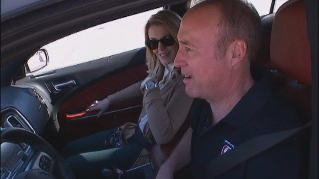Lauren, David Test Drive Dodge Challenger
