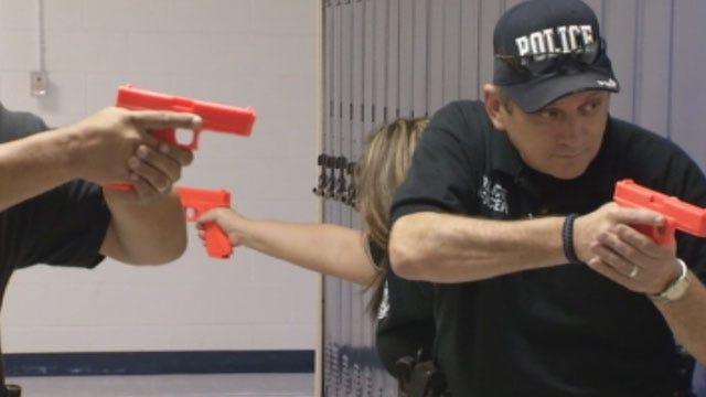 OK Law Enforcement Officers Practice School Shooting Tactics