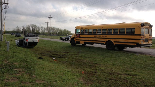 Empty Moore School Bus Collides With SUV