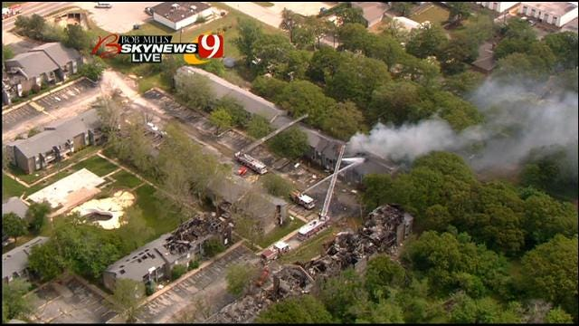 Crews Once Again Battle Fire At Abandoned NW OKC Apartment Complex