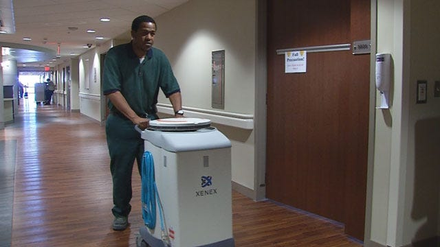 Germ-Zapping Robot Deployed At First Oklahoma Hospital
