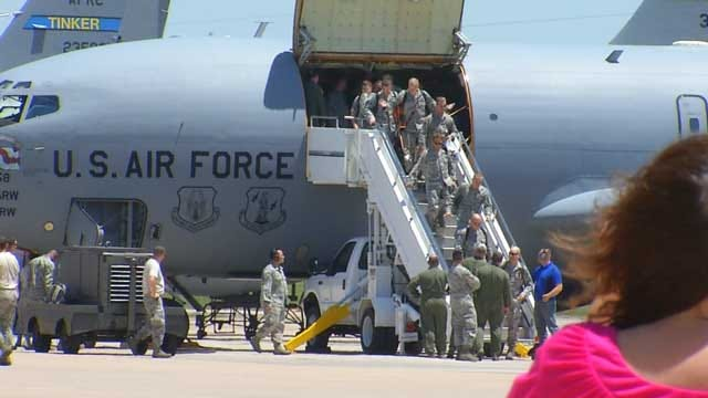 Tinker Reservists Return From Southwest Asia Deployment