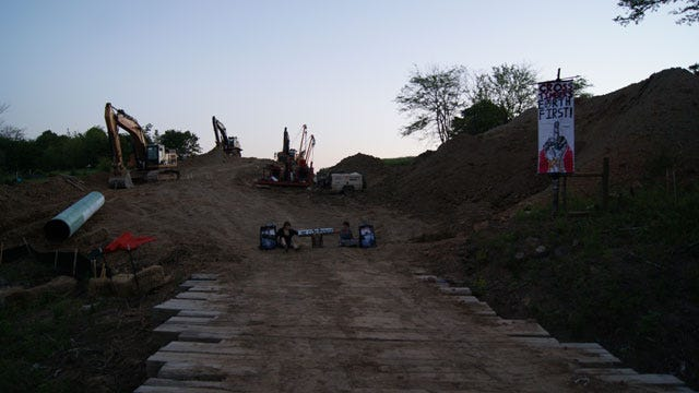 Protests Continue At Keystone Pipeline Construction Site