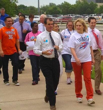 Fallin Joins Group Of Workers For Capitol Walk
