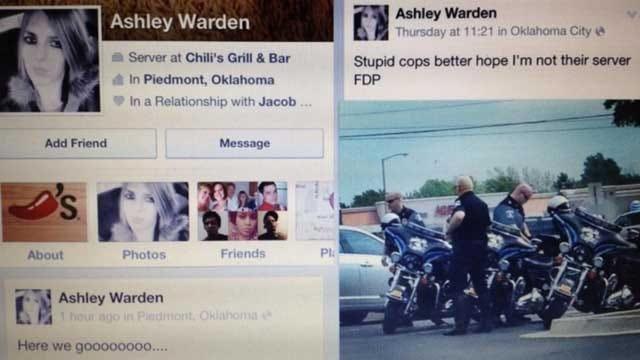 Oklahoma Waitress Fired Over Facebook Post