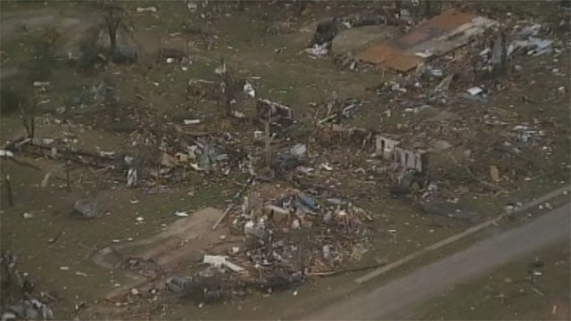 News 9's Michael Konopasek Tours North Texas Tornado Destruction