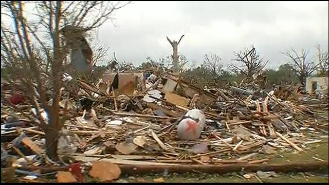 News 9's Rusty Surette Tours Granbury, Texas Tornado Damage