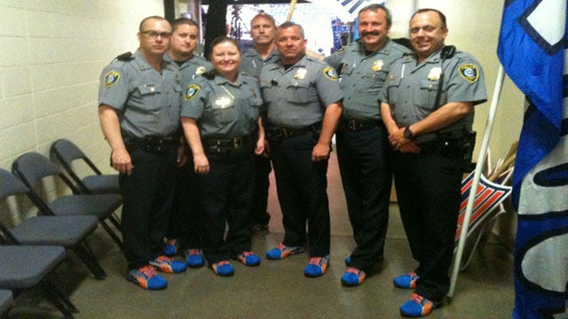 OKC Police Officers 'Thunder Up' With Help From Kelly Ogle