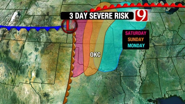 Strong Storm System Building On Approach To Oklahoma