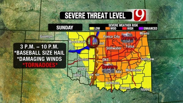 Another Round Of Severe Weather On The Way To Oklahoma