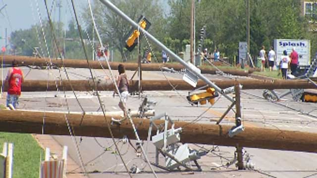 Crews Work To Clear Downed Power Lines In NW OKC