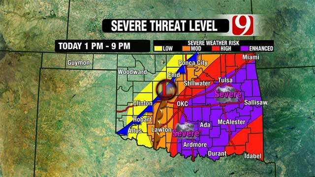 Second Round Of Severe Weather Slams Oklahoma