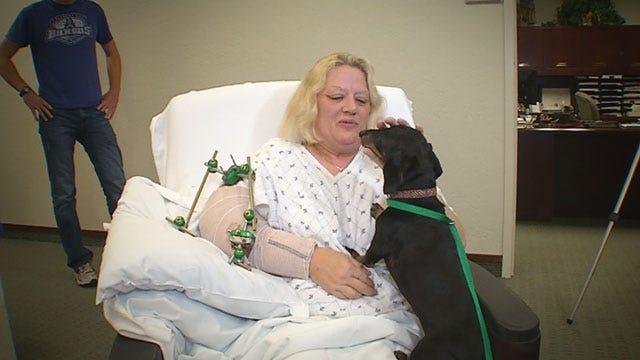 News 9 Reunites Tornado Survivor With Dog