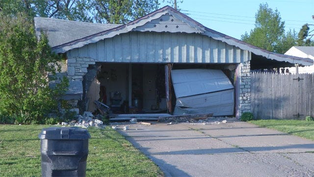 Driver Hits OKC House, Speeds Away