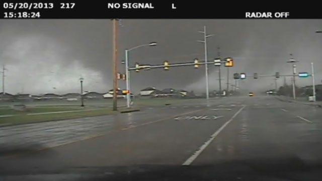 Moore Police Sergeant Captures Deadly Tornado On Dash Cam