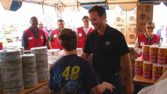 NASCAR Champion Jimmie Johnson Host Relief Event In Moore
