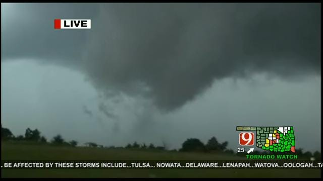 Tornadoes Touch Down As Severe Storms Move Through Oklahoma