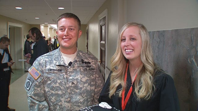 Soldier Brother Surprises Sister At OSU Graduation