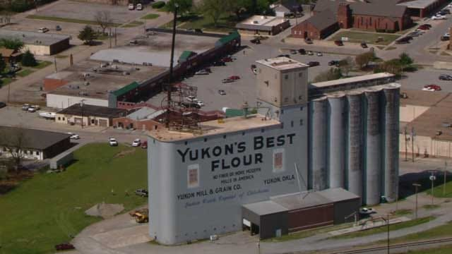 Sign From Yukon's Historic Flour Mill Removed For Repairs