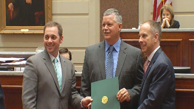 News 9 Storm Tracker Marty Logan Honored At State Capitol