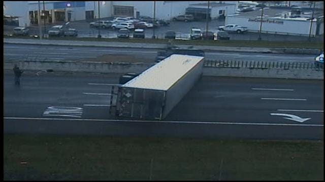 All Lanes Of I-40 In Midwest City Reopen After Semi Overturns