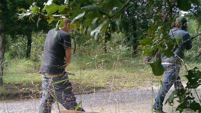 Security Camera Catches Two Men Burglarizing SE OKC Home