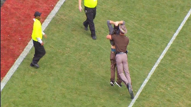 OHP Identifies Man Who Ran Onto Field During OU Game
