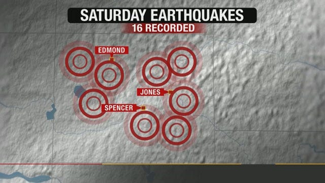 Oklahoma Geological Survey Records 16 Quakes Around OKC