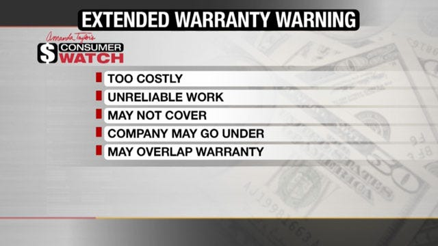 Consumer Watch: Why We May Not Want To Buy An Extended Warranty