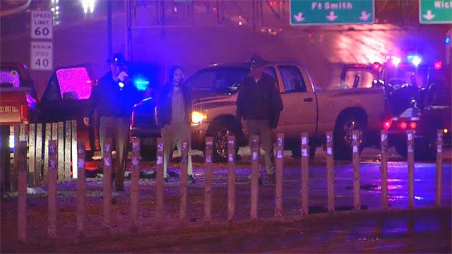 Slick Roads Lead To Multiple Crashes On OKC Roads, Overpasses