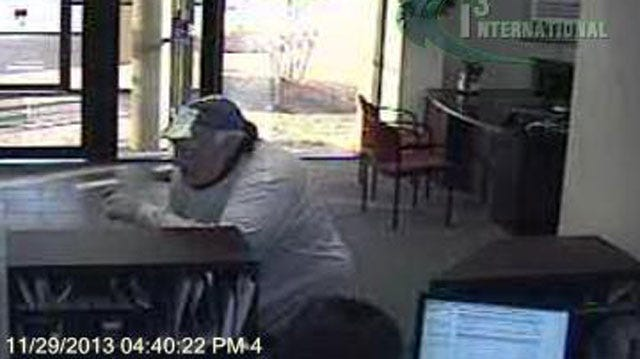 Masked Suspect Robs NW Oklahoma City Bank