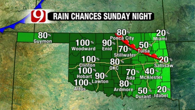 Rain, Cold Front Coming To Oklahoma