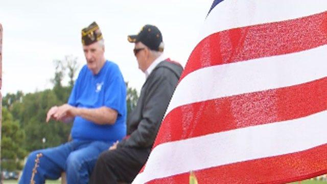 Oklahoma Veterans Protest Against Government Shutdown