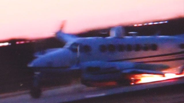 Small Plane's Hard Landing Caught On Camera At Wiley Post Airport