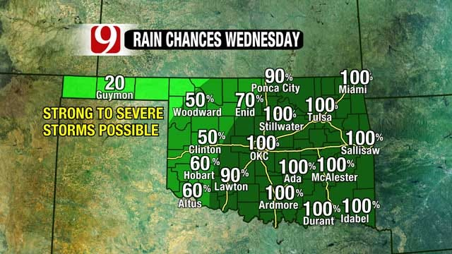 Powerful Storm System Moving Into Oklahoma Wednesday Morning