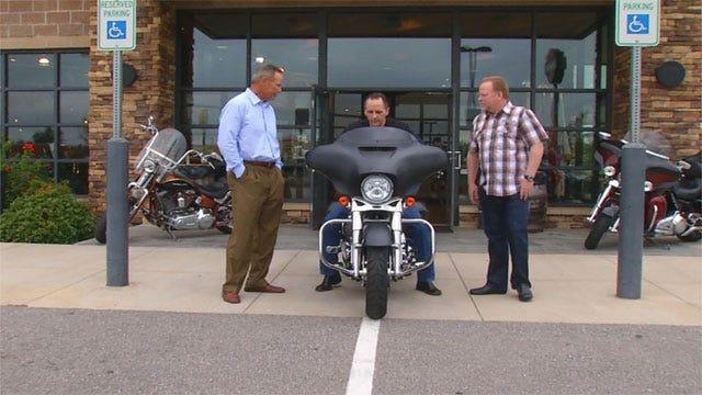Winner Takes Home Street Glide Motorcycle Won In 'Stan's Ride' Raffle