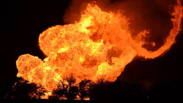 Gas Line Explosion Rocks Harper County; Families Forced Out Of Homes