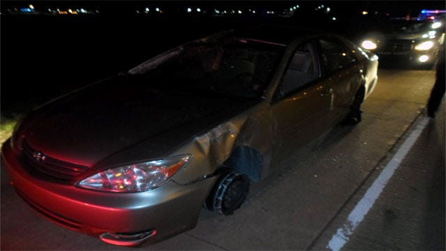Okla. County Deputies Catch Drunk Driving Suspect Behind Wheel Of Heavily-Damaged Car